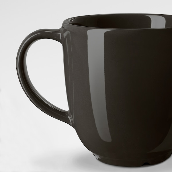 VARDAGEN Mug, dark grey, 30 cl
