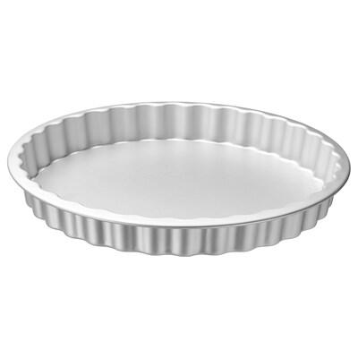 VARDAGEN Pie dish, silver-colour, 31 cm/1.8 l