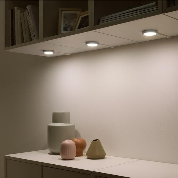 VAXMYRA LED spotlight, aluminium-colour, 6.8 cm