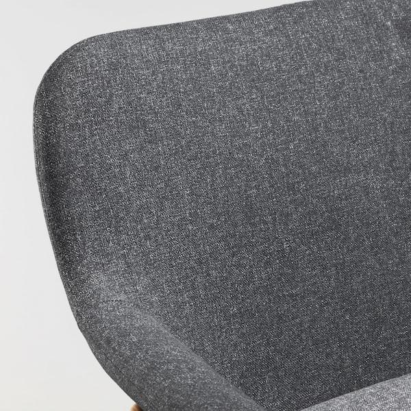 VEDBO Armchair, Gunnared dark grey