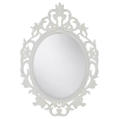 VIKERSUND Mirror, oval/white, 59x85 cm