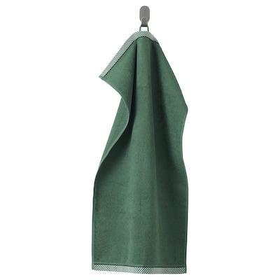 VIKFJÄRD Hand towel, green, 40x70 cm