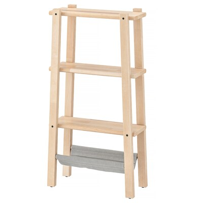 VILTO Shelving unit, birch, 47x90 cm