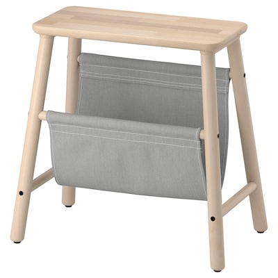 VILTO Storage stool, birch, 45 cm