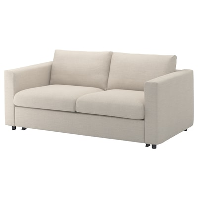 VIMLE 2-seat sofa-bed, Gunnared beige