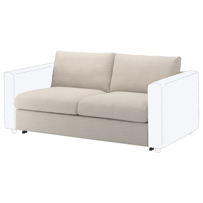 VIMLE 2-seat sofa-bed section, Gunnared beige