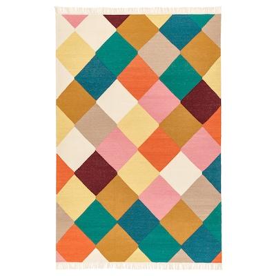 VINDERÖD rug, flatwoven handmade multicolour 195 cm 133 cm 4 mm 2.59 m² 1400 g/m²