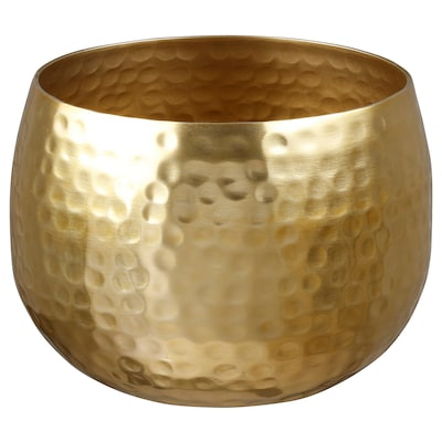 VINDFLÄKT Bowl, gold-colour, 15 cm