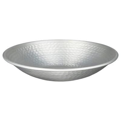 VINDFLÄKT Decorative bowl, silver-colour, 27 cm