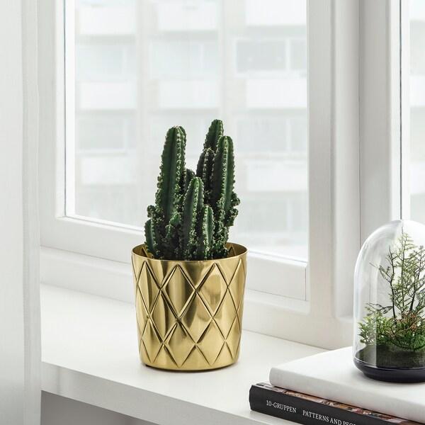 VINDFLÄKT plant pot brass-colour 12 cm 13 cm 12 cm 12 cm