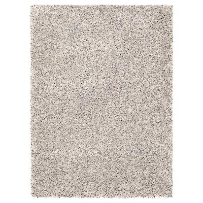 VINDUM Rug, high pile, white, 133x180 cm
