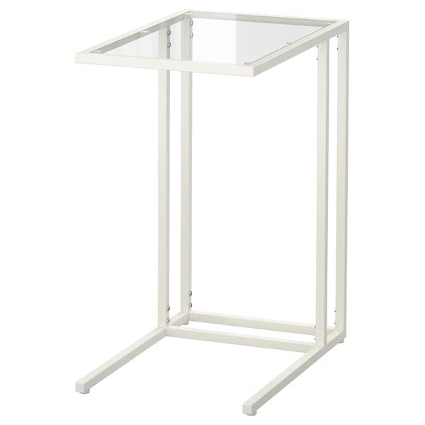 VITTSJÖ Laptop stand, white/glass, 35x65 cm