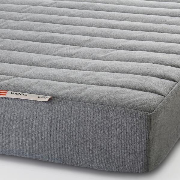 VOGNILL Coir foam mattress, firm/light grey, 80x200 cm