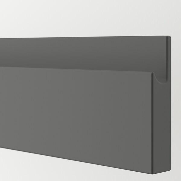 VOXTORP Drawer front, dark grey, 80x10 cm