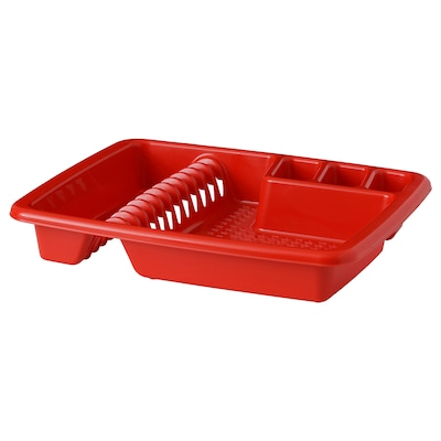 VRAKFISK Dish drainer, red