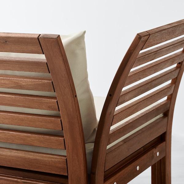 ÄPPLARÖ Divano componibile 2 posti, esterno, marrone/Hållö beige, 143x80x73 cm