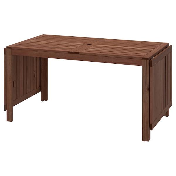 Tavolo Da Esterno Allungabile Ikea.Applaro Tavolo A Ribalta Da Esterno Mordente Marrone Marrone Ikea