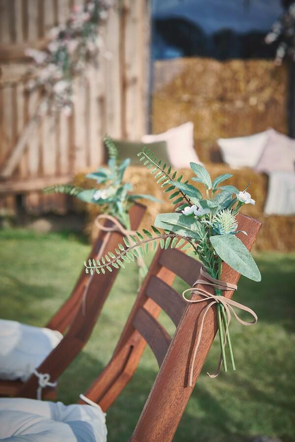 ÄPPLARÖ Sedia da giardino, pieghevole mordente marrone