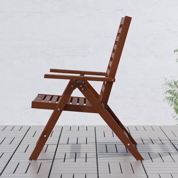 Sedie Giardino Legno Ikea.Applaro Tavolo 8 Sedie Relax Da Esterno Mordente Marrone Ikea It