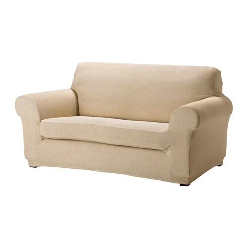 Ager d fodera per divano a 2 posti beige chiaro ikea for Divano 2 posti ikea