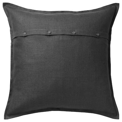 AINA Fodera per cuscino, grigio scuro, 65x65 cm