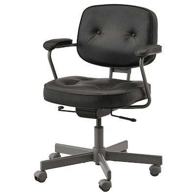 ALEFJÄLL sedia da ufficio Glose nero 110 kg 64 cm 64 cm 95 cm 51 cm 42 cm 45 cm 56 cm