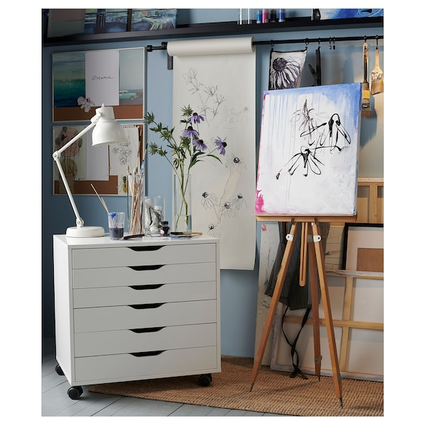 Cassettiere Di Plastica Ikea.Alex Cassettiera Con Rotelle Bianco Ikea