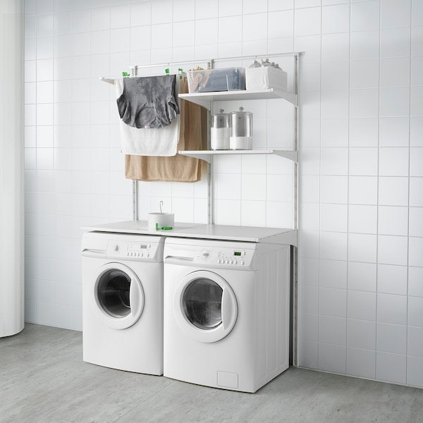 Cabina Armadio Ikea Algot.Algot Guida Ripiani Stendibiancheria Bianco Ottieni Tutti I