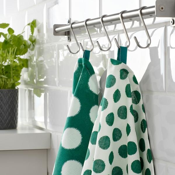 ALVALISA strofinaccio verde/bianco 70 cm 50 cm 2 pezzi