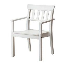 ÄNGSÖ Sedia con braccioli da giardino, mordente bianco - Sottocosto IKEA Torino