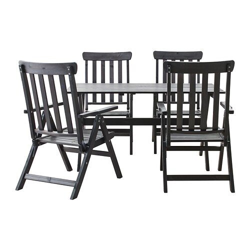 Ngs tavolo 4 sedie relax da giardino mordente marrone - Sedie da giardino ikea ...