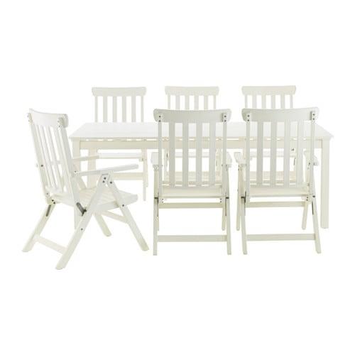 Ngs tavolo 6 sedie relax da giardino mordente bianco - Sedie ikea giardino ...