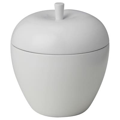 ANSPRÅKSLÖS Candela profumata/barattolo metallo, mela/Mela e pera bianco, 9 cm