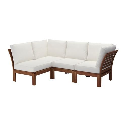 Pplar divano angolare 3 1 da esterno mordente marrone - Lettini da giardino ikea ...