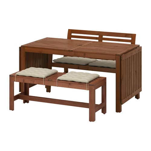 Pplar tavolo 2 panche da giardino pplar mordente - Panche da giardino ikea ...