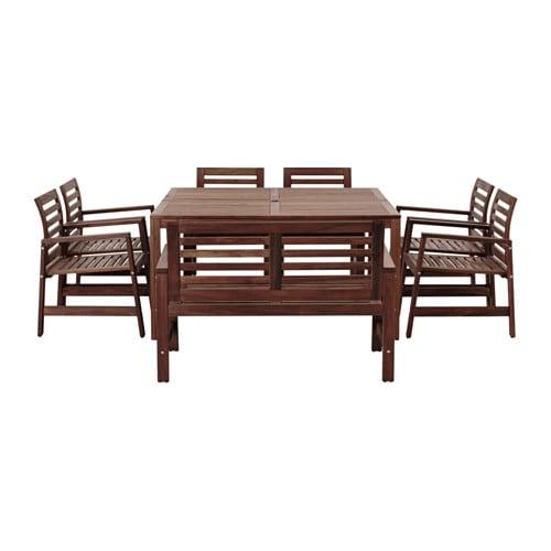 Pplar tavolo 6sedie bracc panca giardino pplar for Ikea panca giardino