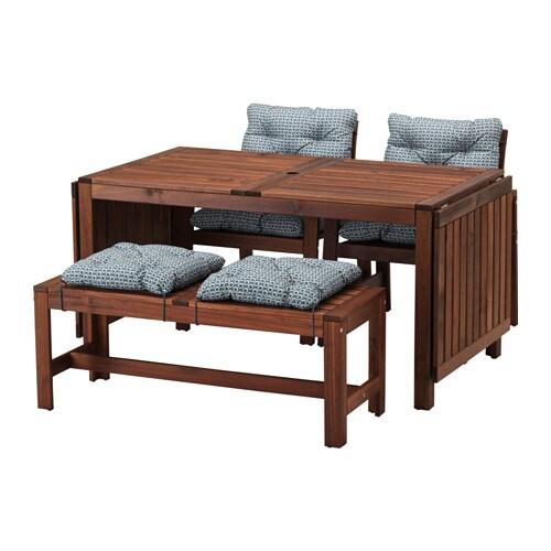Pplar tavolo 2 sedie con braccioli panca pplar for Tavolo con sedie ikea