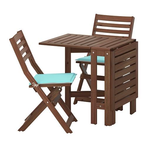 Pplar tavolo 2 sedie pieghevoli giardino pplar - Accessori giardino ikea ...