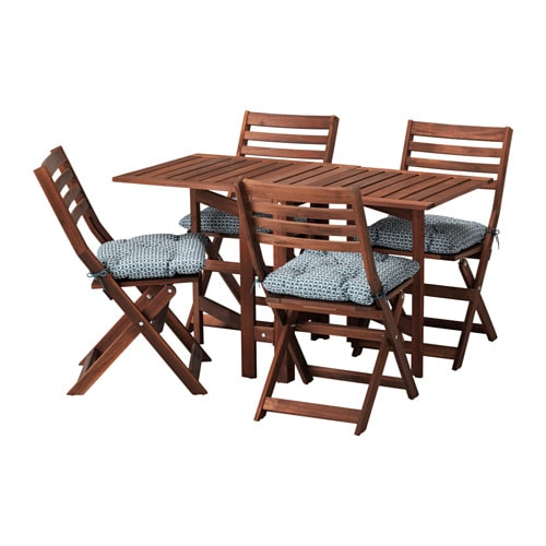 Sedie Pieghevoli In Legno Ikea.Applaro Tavolo 4 Sedie Pieghevoli Giardino Applaro Mordente