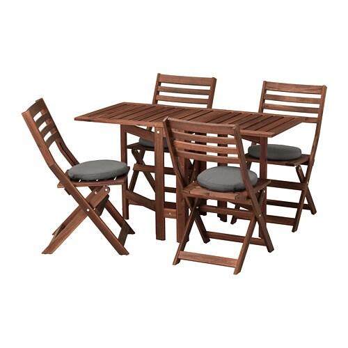 Pplar tavolo 4 sedie pieghevoli giardino pplar for Tavolo marrone scuro