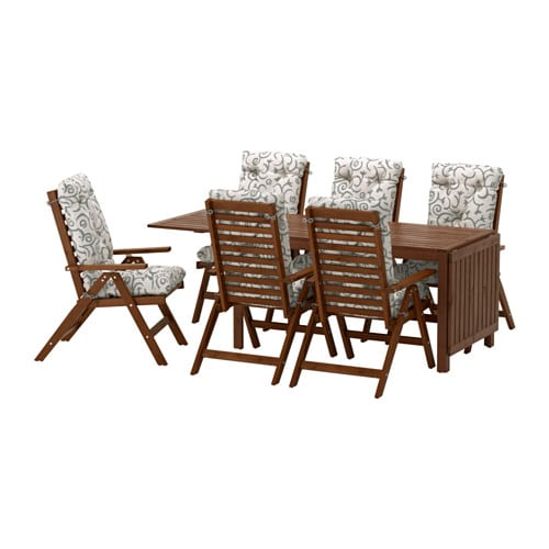 Pplar tavolo 6 sedie relax da giardino pplar - Tavolo e sedie da giardino ikea ...