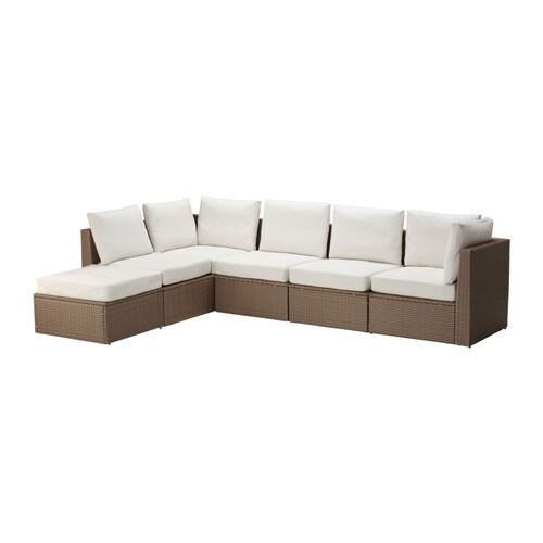 Arholma divano 4 1 e poggiapiedi da esterno ikea for Divani da giardino ikea