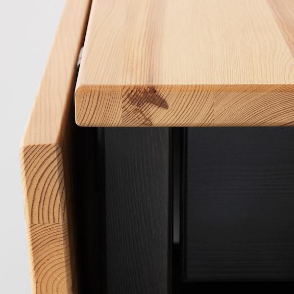 ARKELSTORP Tavolino, nero, 65x140x52 cm