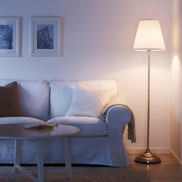 Arstid Lampada Da Terra Nichelato Bianco Ikea It