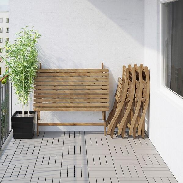 ASKHOLMEN Tavolo+4 sedie da giardino, mordente grigio tortora
