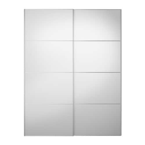 Sistema Ante Scorrevoli Ikea.Auli Coppia Di Ante Scorrevoli Vetro A Specchio