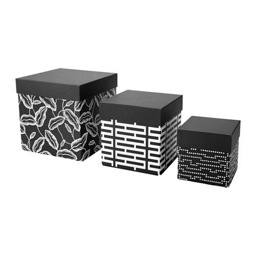 Avsiktlig set di 3 scatole con coperchio ikea - Scatole per armadi ikea ...