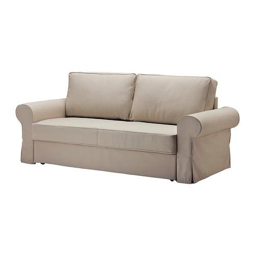 Backabro divano letto a 3 posti tygelsj beige ikea - Trasformare letto singolo in divano ...
