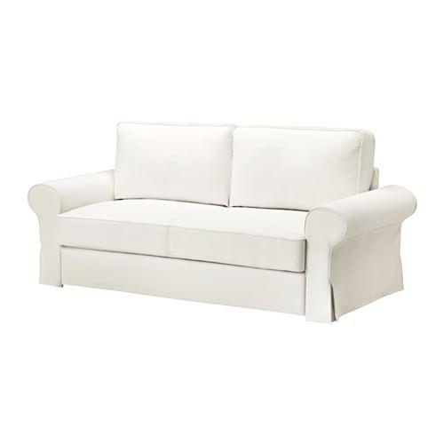 Divano Letto Bianco.Backabro Divano Letto A 3 Posti Hylte Bianco Ikea