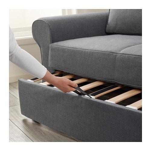 BACKABRO Divano letto a 2 posti - Nordvalla rosso - IKEA